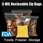 Ziplock 3ML Food & Parts Storage bags 3Mil Clear Freezer Large Small Baggies photo