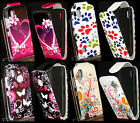 Pink Butterfly, Hearts, Paw Flip Leather Case Cover For Nokia Asha N300