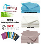 400TC 100% Organic Bamboo Bed Sheet (1 Fitted + 2 Pillowcases) - King or Queen