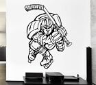 Wall Decal Sport Game Hockey Stick Ice Skates Player Vinyl Stickers (ed299)
