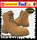 New Oliver ATs Womens Work Boots + ZIP Safety Steel Toe Nubuck Leather 55232Z