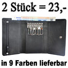 2 Pcs: Key case with 2 Bill compartments 6 Hooks 1 Loose cash pocket 3