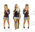 Nicki Minaj Celebrity Sexy Bodycon Evening Long Sleeve Party Leopard Mini Dress