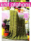 KNIT 4 SEASONAL AFGHANS USING BIG NEEDLES~Leisure Arts Pattern Book 4446~13 Pgs