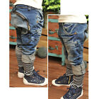 HI Childrens Fashion Jeans Harem Pant Toddler Boys Kid Collapse Casual Trousers