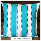 True Turquoise Lulu Stripe Throw Pillow Cover PillowCase Chose your Size