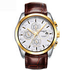 Luxury Mens Watches Automatic Calendar Leather Swiss Brand Date Waterproof Watch