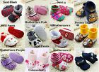 Branded Kids Moccasin Slipper Socks Booties Non Slip Sole Baby Infant Boys Girls