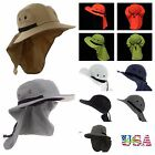 Bucket Bonnie Hat Brim Sun Neck Cover Cap Flap Hunting Fishing Hiking Garden New