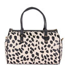 DKNY 433310902 Womens Satchel Handbag Black Animal Print