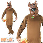 Scooby Doo Fancy Dress Cartoon Dog Mens Adult Halloween Fun Animal Costume - New