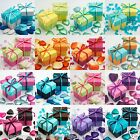 Luxury Two Tone Wedding Favour Boxes & Lids DIY Baby Shower Party Summer Colours