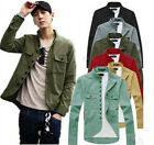 Precision Fine Men Stand-up Collar Casual Jacket Thin Military Design Coats FMUS