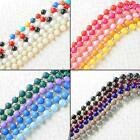 styish girls faux pearl retro faceted beads sweater costume necklace long chain