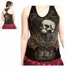 Alchemy Gothic Skull Death And Rose Ring Top Sizes M L
