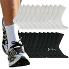 12 or 24 Pairs Mens Cotton Rich Sport Socks Work Socks Shoe Size 6-11
