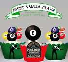 Pool Hall Billiards Snooker Birthday party Cupcake Cake Toppers PRECUT Cup Cake $13.95 AUD on eBay