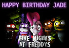 Large Five Nights at Freddys Party Cake Decoration icing sheet personalised