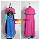 New Disney Frozen Snow Queen ANNA Adult Cosplay Costume Shoes Wig Full Set