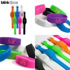 Blink Time Mini Watch Colourful Touch Operated LED Digital Silicone Strap Band