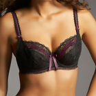 Fauve by Fantasie Lingerie Mia Plunge Balcony Bra 0122 In Black VARIOUS SIZES