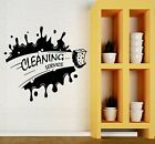 Wall Decal Cleaning Service Housewife Wash Laundry Room Vinyl Stickers (ig2678)