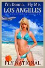 National Airlines Los Angeles LAX Fly Me Donna Beach Poster PinUp Art Print 269-