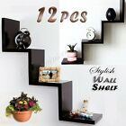 2 Sets Floating Wall Decor Mount Step Ornaments Book CD DVD Store Display Shelf