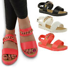 NEW JELLY SUMMER SANDALS LADIES WOMENS FLAT BEACH GIRLS FLIP FLOPS SHOES SIZE