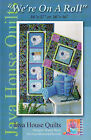 """Java House Quilts~""""WE'RE ON A ROLL""""~Bathroom Wall Hanging Quilts Project TP Roll"""