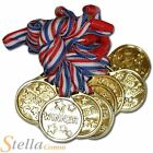 Kids Gold Medals Plastic Winner Party Loot Bags Filler School Sports Day Trophy