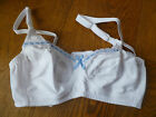 NCT WHITE BLUEBELL RIBBON TRIM MATERNITY NURSING BREASTFEEDING BRA 36 B NEW