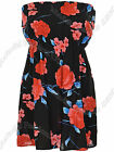 Ladies Boobtube Bandeau Strapless Multi Colour Womens Dress Tops Size UK 8 - 22