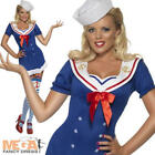 Ahoy Sailor Girl Ladies Fancy Dress Uniform Nautical Uniform Costume UK 6-14