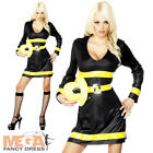 Firefighter Ladies Fancy Dress Emergency Services Uniform Womens Costume Outfit