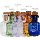 10pcs Mini Empty Small Tiny Clear Cork Bottle With Cork Vials,Multicolor