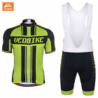 VEOBIKE Summer Cycling Team Short Sleeve Men's Cycling Jersey + BIB Shorts SET
