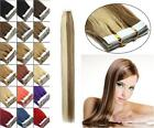 Grade 7A Seamless Tape In Skin Weft Brazilian Remy Human Hair Extensions 20Inch