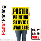 100 X A3 Full Colour Poster Print / Printing Service 150gsm / 250gsm  Free P&P