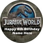 Jurassic World edible icing cake toppers. Personalise for your occasion!
