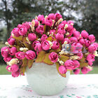 15 Heads Fake Artificial Rose Silk Flower Home Table Party Weeding Decor 6 Color