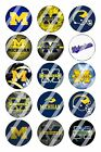 "Michigan Wolverines Bottle Cap 1"" Circle Images Sheet #1 digital file or pre cut"