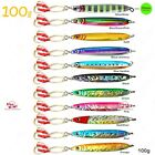 Fish WOW!1~20pcs 100g 3.5oz Fishing Vertical Vortex Knife Butterfly Jig Lures