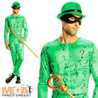 Riddler Classic Fancy Dress Men's Superhero Adults Costume Movie Outfit - New