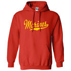 Marines Script Tail Script HOODIE - Hooded Semper Fi USA Sweatshirt - All Colors