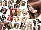 Clip In Remy Human Hair Extensions Full Head Thick Delux Grade 7A 100g-160g 8Pcs