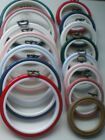 """2.5"""" or 4"""" ROUND FLEXI HOOP Pick from 8 COLOURS Cross Stitch / Embroidery Frame"""