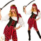 Ladies Pirate Fancy Dress Costume High Seas Caribbean Wench Outfit Size 6-28