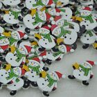 New 10/50/100pcs Christmas snowman Sewing Wood button For Kid's Gift Craft  W51