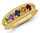 14K Solid Gold Mother's Day Ring 1 to 8 Birthstones, Moms...